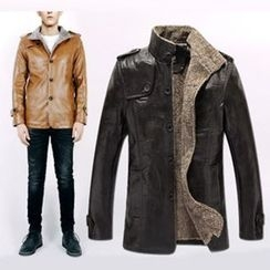 Evzen - Faux Leather Jacket