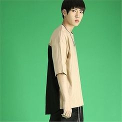 THE COVER - Color-Block Short-Sleeve T-Shirt
