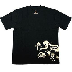 Alan Chan - T-shirt(Short Sleeve) - Zodiac in Black with Gold