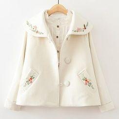 ninna nanna - 刺繡A字針織大衣