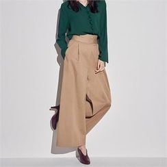 MAGJAY - Zip-Side Wide-Leg Pants