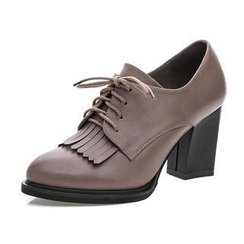 Hannah - 流蘇繫帶高跟鞋