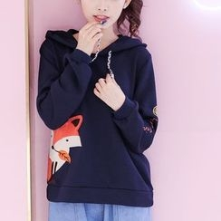 Fairyland - Fox Embroidered Hoodie
