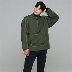 BYMONO - Half-Placket Pocket-Front Padded Anorak Pullover