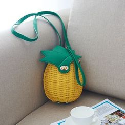Trava - Pineapple Straw Crossbody Bag