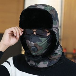 Cheza - Couple Matching Earflap Hat + Mask + Scarf Set