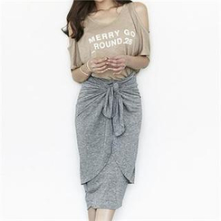 blum - Tie-Front Midi Skirt