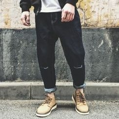 Milioner - Distressed Tapered Jeans