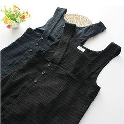 Citree - Plaid Pinafore Dress