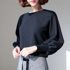 WITH IPUN - Puff-Sleeve Sweater