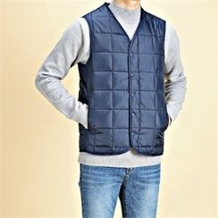 THE COVER - Quilted Snap-Button Padded Vest