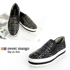 SWEET MANGO - Tweed Slip-Ons