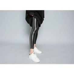Envy Look - Fleece-Lined Faux-Leather Leggings