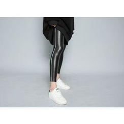 Envy Look - Fleece-Lined Faux-Leather Leggings