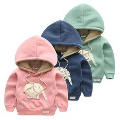 Seashells Kids - Kids Elephant Applique Hoodie