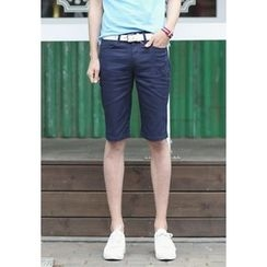 PLAYS - Flat-Front Slim-Fit Shorts