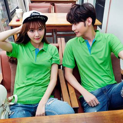 Evolu Fashion - Couple Matching Short-Sleeve Polo Shirt