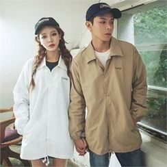 Superstar.i - Couple Lettering Snap-Button Jacket