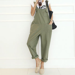 DANI LOVE - Stitched Pocket-Front Jumper Pants