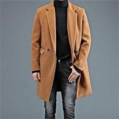 THE COVER - Double-Breasted Wool Blend Coat