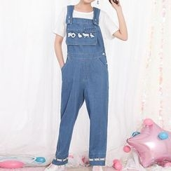 Fairyland - Embroidered Denim Dungaree