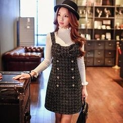 Dabuwawa - Wool Blend Double-Breasted Jumper Dress