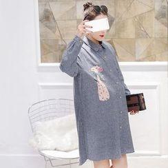 Aphrodite - Maternity Printed Shirtdress