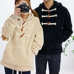 Seoul Homme - Couple Toggle-Button Fleece Pullover