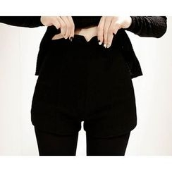 Marlangrouge - Zip-Back High-Waist Shorts