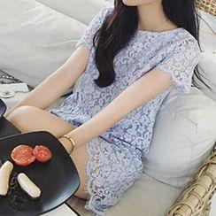 Ashlee - Short Sleeve Lace Dress