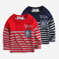 Happy Go Lucky - Kids Long-Sleeve Striped T-Shirt
