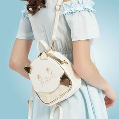 Rabbit Bag - Faux-Leather Cat Backpack