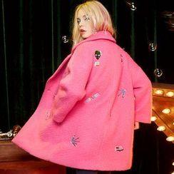 妖精的口袋 - 刺绣宽松大衣