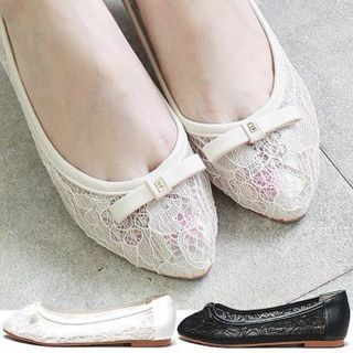Reneve - Bow-Accent Lace Flats