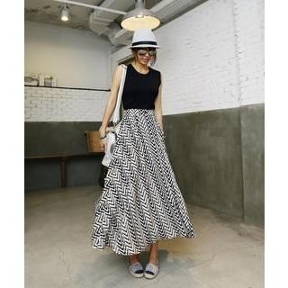 DANI LOVE - Zigzag-Pattern Maxi Skirt