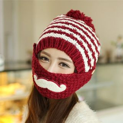 Damasco - Mustache Bobble Beanie