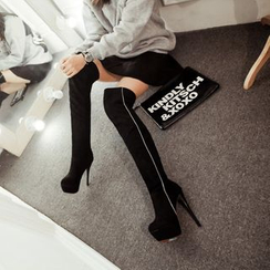 JY Shoes - Platform High Heel Over-the-knee Boots