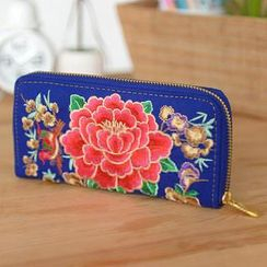 59 Seconds - Embroidered Long Wallet