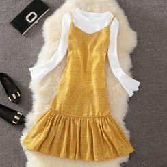 Clementine - 純色長袖T恤 / 印花細肩帶連衣裙