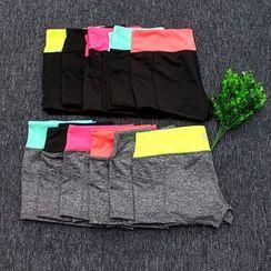 Girasol - Contrast-Trim Workout Shorts