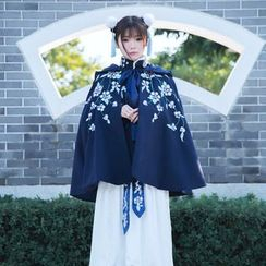 Jade Dragon - Woolen Coat / Blouse / Maxi Skirt / Scarf / Set