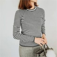 JOAMOM - Long-Sleeve Striped Knit Top