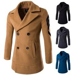 Fireon - Applique Double-Breasted Coat