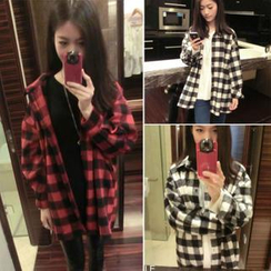 QZ Lady - Oversized Check Shirt