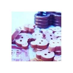 Tivi Boutique - 一套5款: 小熊木制钮扣