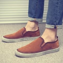 Chariot - Faux-Suede Slip-Ons