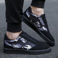 Chariot - Faux-Suede Printed Sneakers