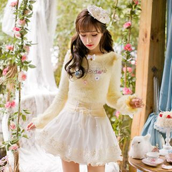 Candy Rain - Floral Furry Sweater