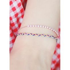 kitsch island - Rhinestone Layered Bracelet