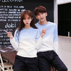 Azure - Couple Matching Gradient Sweatshirt